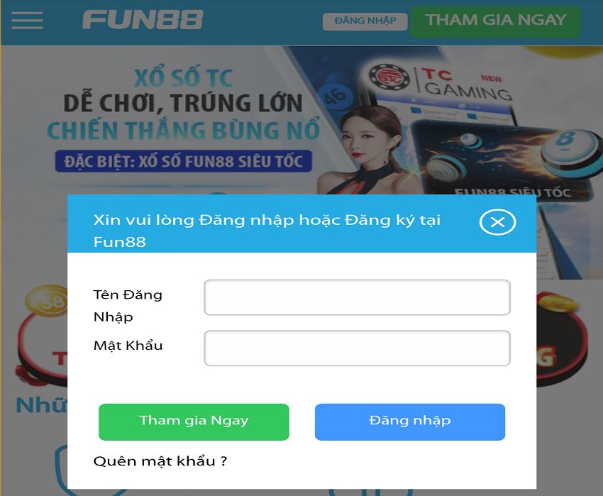 đăng nhập fun88